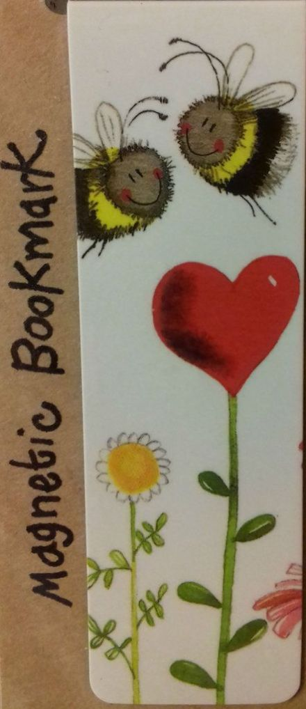 Love Heart Bees Magnetic Bookmark